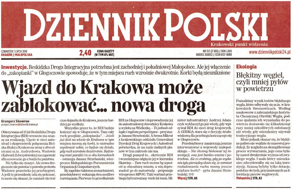 Dziennik Polski - BDI zakorkuje Zakopiankę (1)