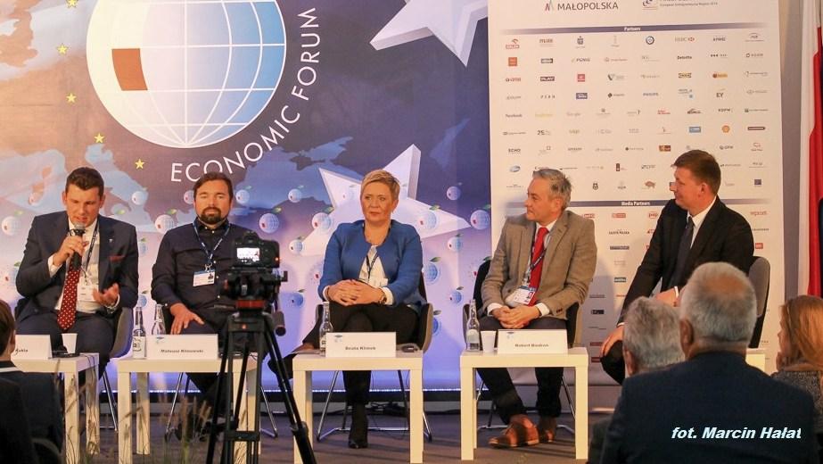 Panel progresywnej polityki miejskiej w czasie Forum Ekonomicznego w Krynicy